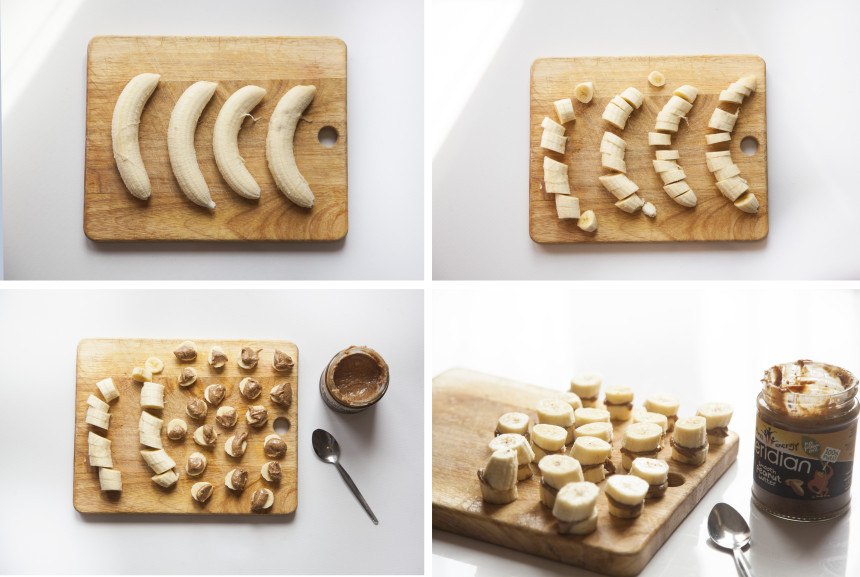 banana-peanut butter snacks