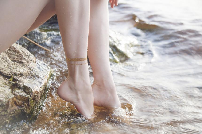 shine tattoo ankle